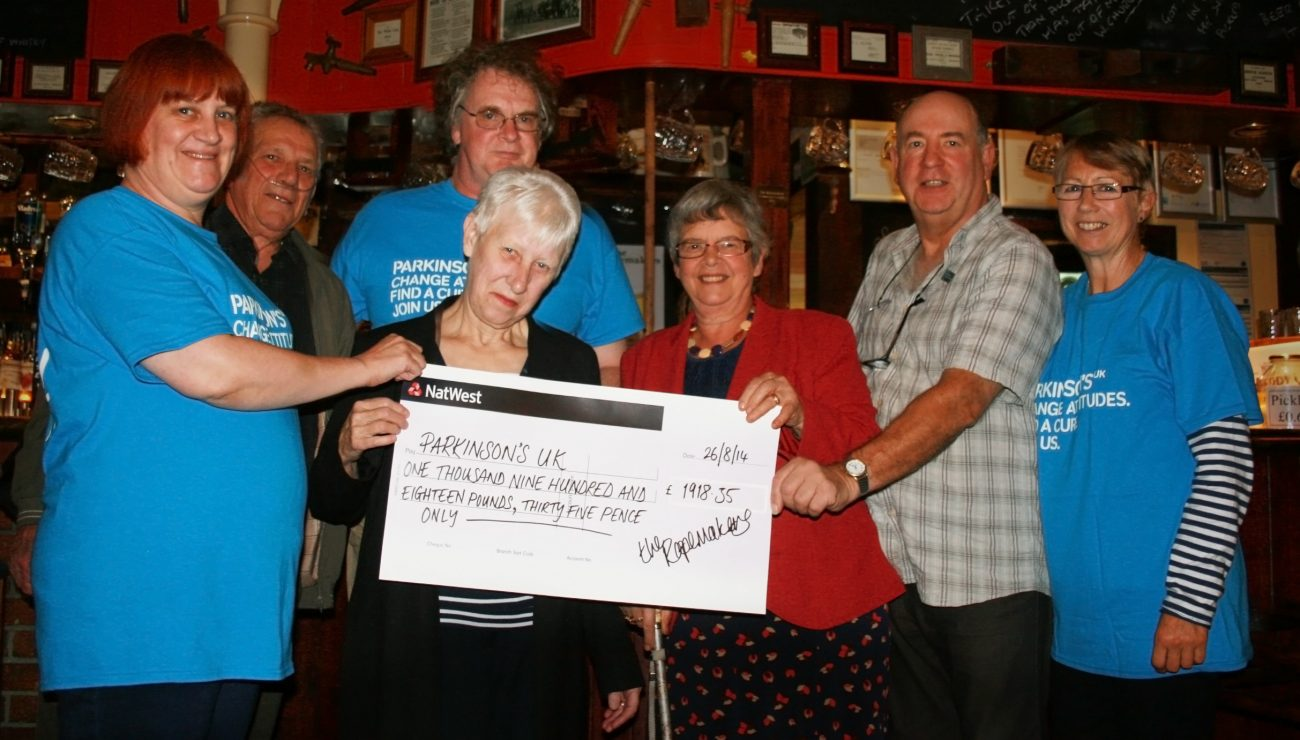 The Ropemakers raise £1,918 for Parkinson's UK