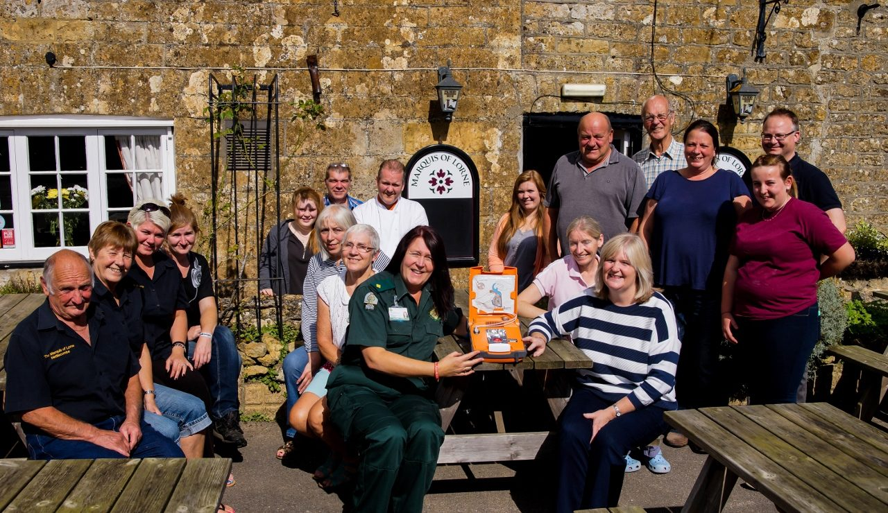 Marquis of Lorne at Nettlecombe installs a Defibrillator with support from the Palmers Brewery Fund