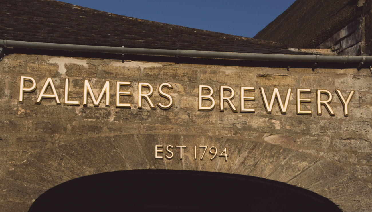 Palmers Brewery sign, established 1794.