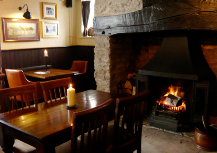 Open fire at the Bridport Arms